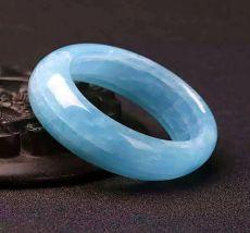 天然海蓝宝石手镯