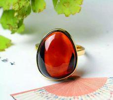 天然波罗的海血珀戒指