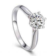 白18K金钻石女戒 结婚钻戒11