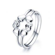 Pt950心形铂金戒指女款