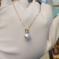 现货18K钻石珍珠套链